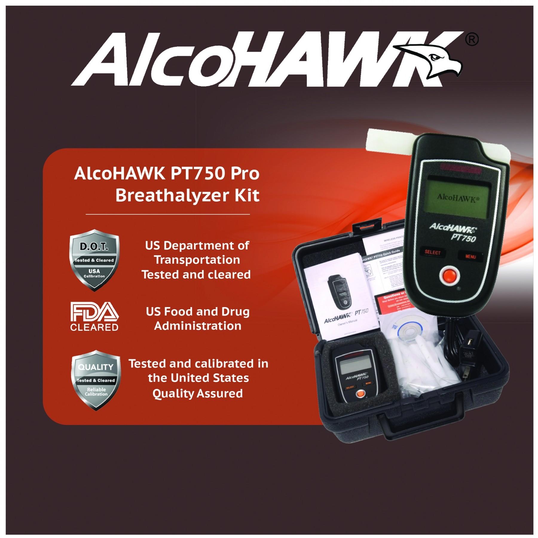 AlcoHAWK PT750 Professional Kit with Printer