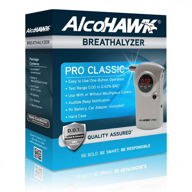 AlcoHAWK PRO Breathalyzer, Digital Breath Alcohol Tester