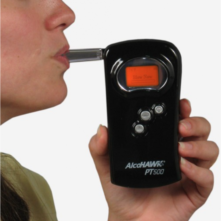 AlcoHAWK PT500 Professional Breathalyzer Kit + Free Calibration