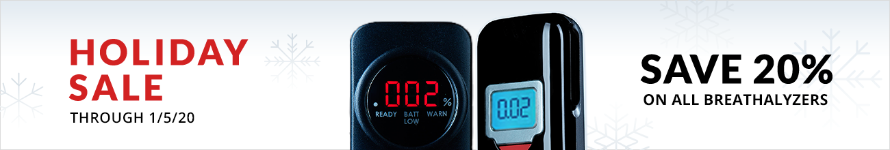 Holiday Sale - 20% off all breathalyzers through January 5th